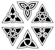 Insieme celtico del nodo della trinità Immagine Stock Libera da Diritti