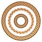 Insieme celtico della struttura dell'ornamento Immagini Stock