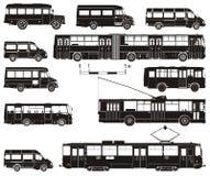 Insieme ciao-dettagliato del trasporto pubblico di vettore Fotografia Stock