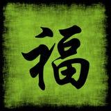 Insieme cinese di calligrafia di ricchezza Fotografia Stock