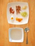 Insieme cinese tailandese tradizionale del congee Fotografia Stock