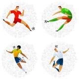 Insieme colorato del calciatore Fotografie Stock