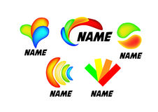 Insieme colorato del logotype Fotografie Stock Libere da Diritti