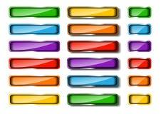 Insieme colorato del tasto di Web Fotografie Stock Libere da Diritti