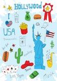 Insieme colorato dell'americano Immagini Stock