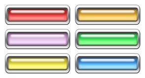 Insieme colorato dell'icona Fotografie Stock Libere da Diritti