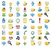 Insieme colorato dell'icona di vettore di media e di Web Immagine Stock