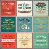 Insieme colorato di citazioni di successo Immagini Stock Libere da Diritti