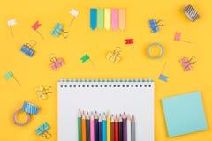 Insieme colorato di hobby di arte Fotografia Stock