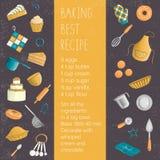 Insieme colorato di vettore degli elementi per cuocere illustrazione di stock