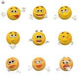 Insieme comico del emoticon Fotografia Stock