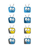 Insieme comico dell'icona della TV Immagine Stock Libera da Diritti