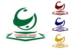 Insieme completo dei logotypes. Fotografie Stock