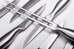 Insieme completo del coltello Fotografia Stock