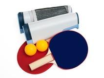 Insieme completo del pong di rumore metallico Fotografie Stock Libere da Diritti