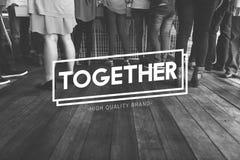 Insieme concetto di sostegno della società degli amici della Comunità Immagini Stock