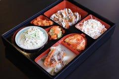 Insieme coreano dell'alimento Fotografie Stock