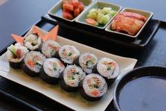 Insieme coreano dell'alimento Fotografia Stock