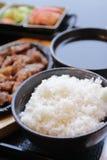 Insieme coreano dell'alimento Immagini Stock