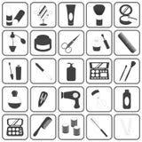 Insieme cosmetico di base di vettore delle icone Immagine Stock Libera da Diritti