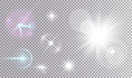 Insieme cosmico delle stelle bianche e variopinte Immagini Stock