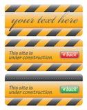 Insieme in costruzione del messaggio di Web site Fotografia Stock Libera da Diritti