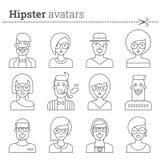 Insieme creativo degli avatar dei pantaloni a vita bassa Fotografie Stock