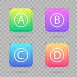 Insieme creativo dell'illustrazione di vettore del modello dell'icona di app con le linee guida, griglie isolate su fondo Disegno illustrazione vettoriale