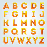 Insieme creativo di alfabeto 3D Fotografia Stock Libera da Diritti