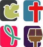 Insieme cristiano dell'icona Fotografia Stock Libera da Diritti