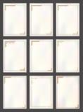 Insieme d'annata della struttura del confine di vettore Fotografie Stock Libere da Diritti