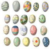 Insieme d'annata di progettazione dell'uovo di Pasqua Immagini Stock Libere da Diritti