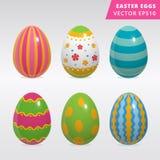 Insieme d'annata di progettazione dell'uovo di Pasqua Fotografia Stock Libera da Diritti