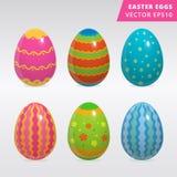 Insieme d'annata di progettazione dell'uovo di Pasqua Fotografie Stock Libere da Diritti