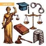 Insieme decorativo di legge Fotografia Stock Libera da Diritti