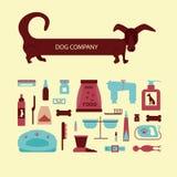 Insieme degli accessori del cane del segno Fotografie Stock Libere da Diritti