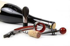 Insieme degli accessori del vino Immagine Stock Libera da Diritti