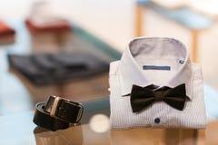 Insieme degli accessori dell'uomo menswear Fotografie Stock Libere da Diritti