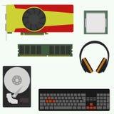 Insieme degli accessori di computer Immagine Stock Libera da Diritti