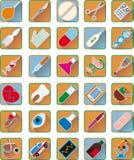 Insieme degli accessori medici Fotografie Stock