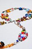 Insieme degli accessori su carta Fotografia Stock Libera da Diritti