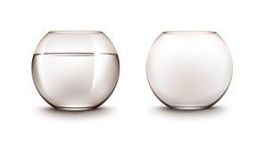Insieme degli acquari di vetro trasparenti di Fishbowls con acqua senza pesce royalty illustrazione gratis
