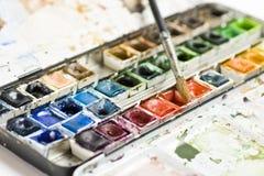 Insieme degli acquerelli Immagine Stock Libera da Diritti