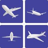 Insieme degli aerei di logistica Immagine Stock