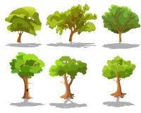 Insieme degli alberi Immagini Stock