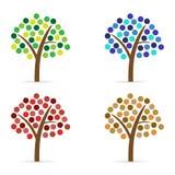 Insieme degli alberi astratti Fotografie Stock Libere da Diritti