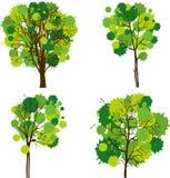 Insieme degli alberi astratti Fotografie Stock