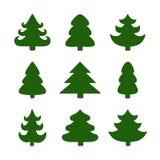 Insieme degli alberi di Natale Immagine Stock Libera da Diritti