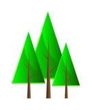 Insieme degli alberi di vettore. Fotografie Stock Libere da Diritti