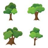 Insieme degli alberi stilizzati astratti illustrazione naturale Fotografie Stock Libere da Diritti